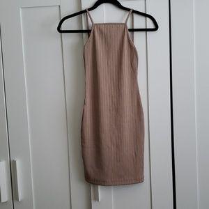 ASOS tan bandage dress